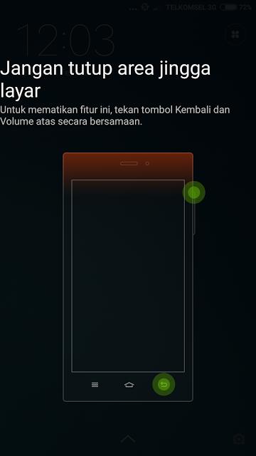 Area Jingga Layar yang Muncul di HP Xiaomi
