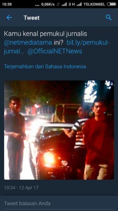 Ini Dia Pelaku Penyerangan Jurnalis NET TV Saat Liputan Di Kemang