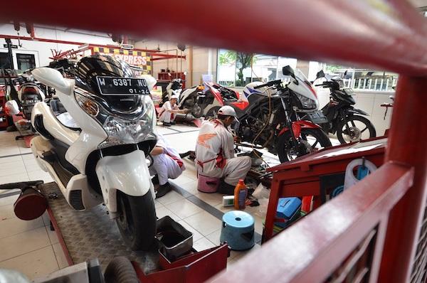 Jutaan Motor Honda di Rawat AHASS