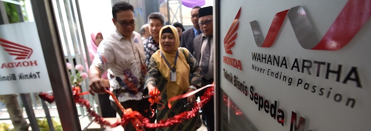 SMK Iptek Jakarta Resmi Jadi Sekolah Binaan Honda