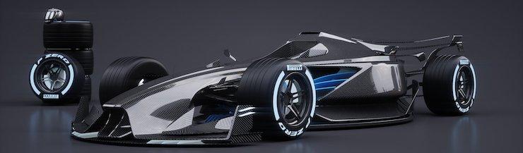 Mobil Konsep F1 Masa Depan Sangat Futuristik